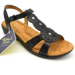 Natural Soul Womans Sling Back Sandal Size 9.5 New